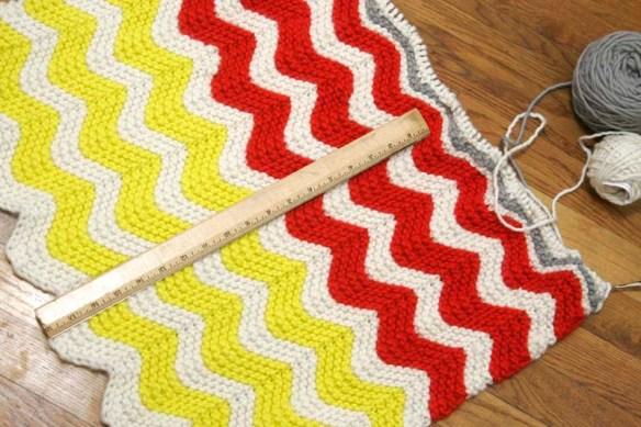 progress on knitting a baby blanket