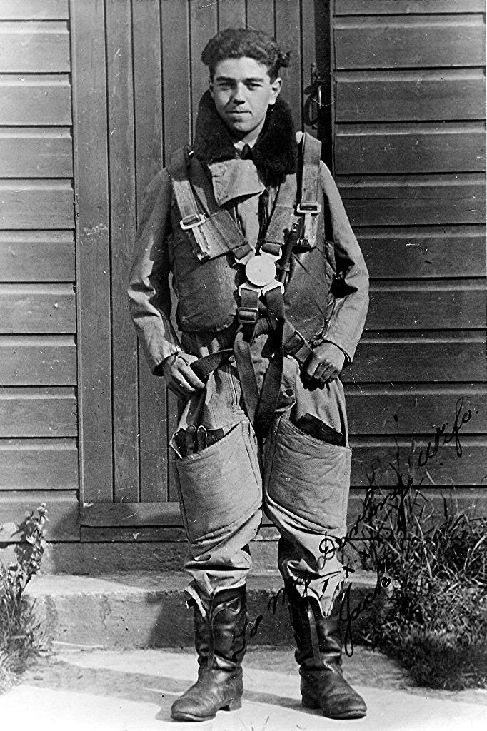 Jack Skinner in flying suit