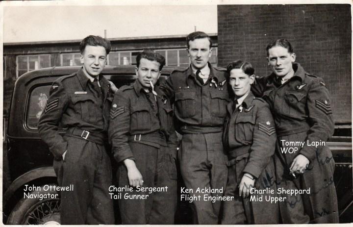 Lancaster Crew 1944 Captioned