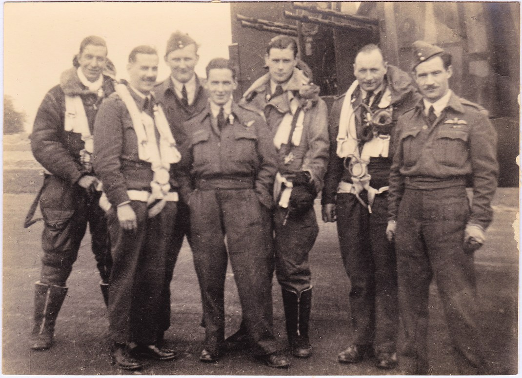 Donald Margach with lancaster crew