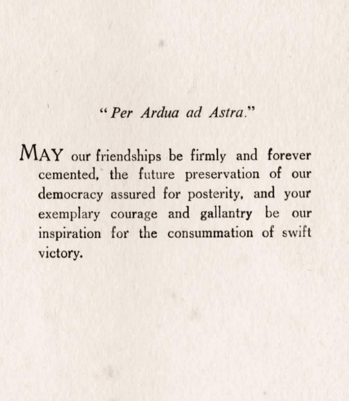 xmas dinner, Graveley, 1944, Bill Phillips, message