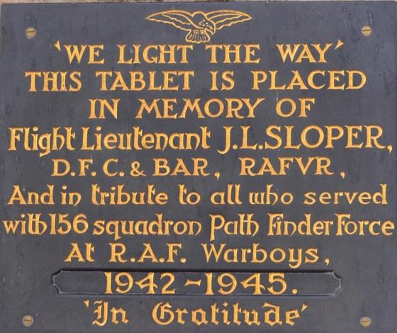 156 memorial tablet