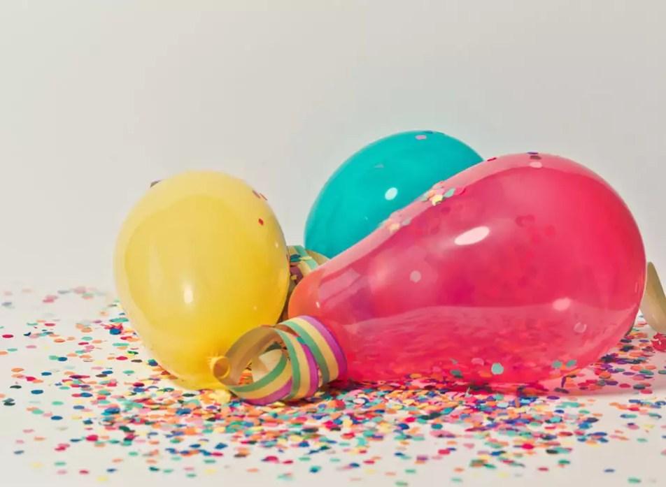 treze anos balões