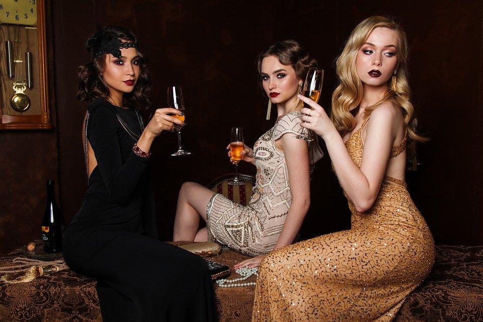 Três, Mulheres, Moda, Cabelo, Fascinação, De Luxo
