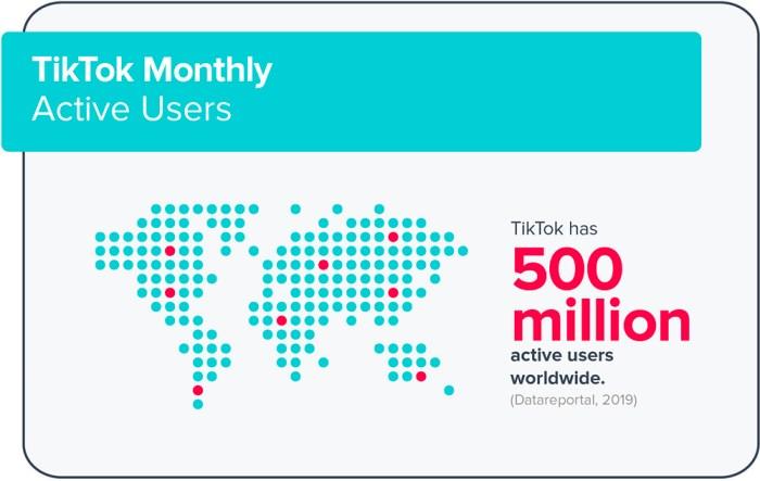 usuarios activos de tiktok en 2019