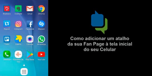 criar um atalho da Fan Page no celular, por Rafael Freire