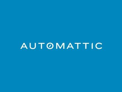 Logo da Automattic sobre um fundo azul