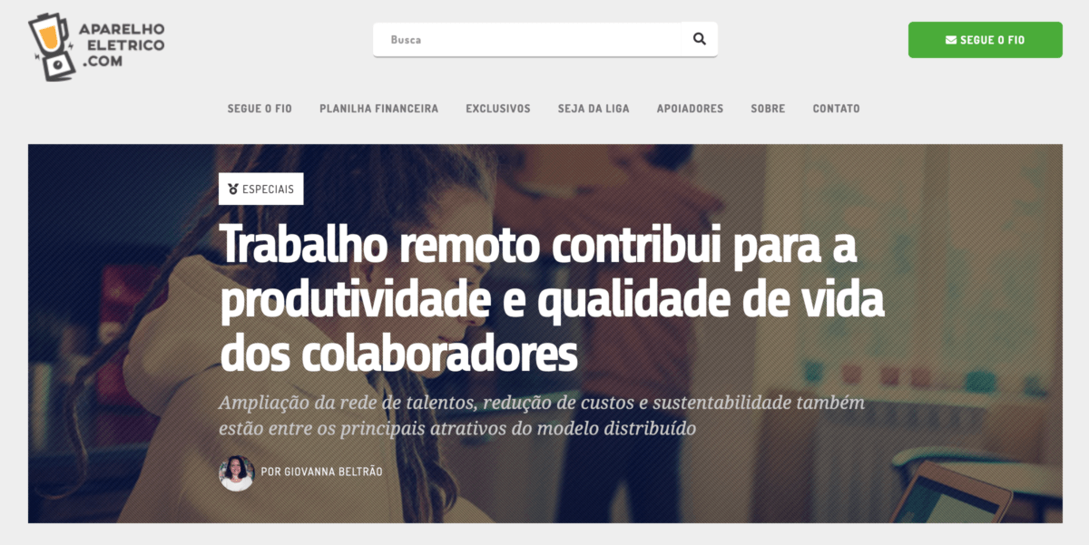 Captura de tela do site aparelhoeletrico.com