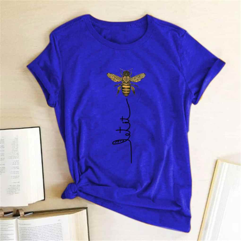 Women's Short Sleeve T-Shirt with Bee Print