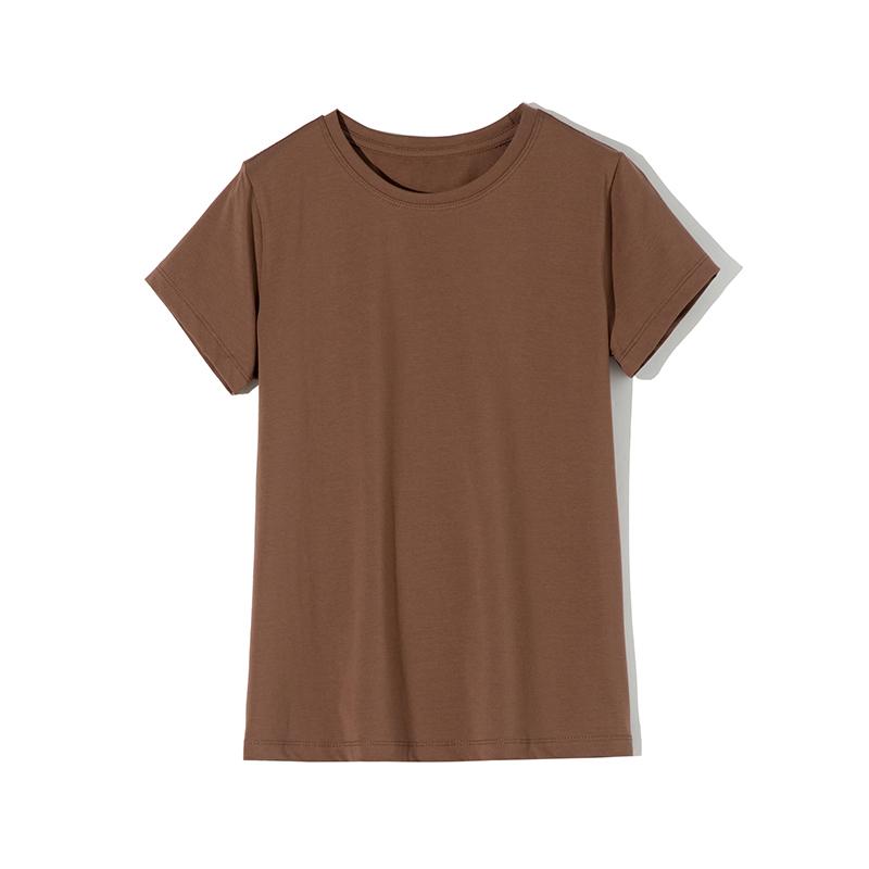 Elastic Plain Cotton T-Shirt for Women