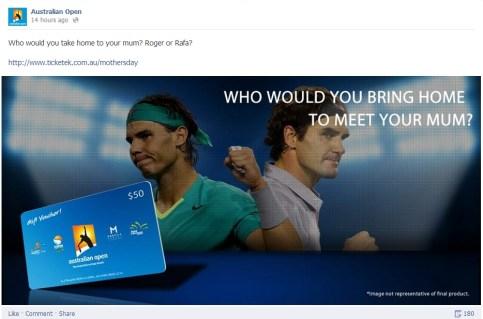 Australian Open Facebook
