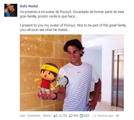 Rafael Nadal's Facebook II May 29 2013