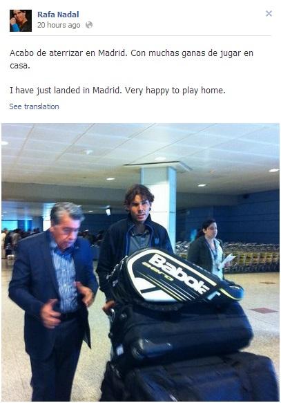 Rafael Nadal's Facebook