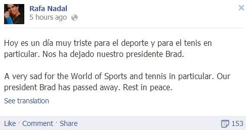 Rafael Nadal's Facebook May 3 2013
