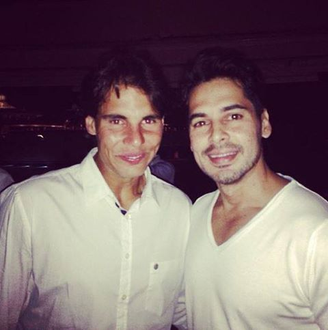 "Indian actor Dino Morea bumped into a pleasant surprise while partying in Ibiza - Spanish tennis ace Rafael Nadal! ""Guess who just bumped into me. Hahaha. I wish. Big fan of the RAAFAA. Absolutely cool guy. At Lio's in Ibiza."""