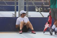 Rafa practicing on a hard court - Rafael Nadal Fans (3)