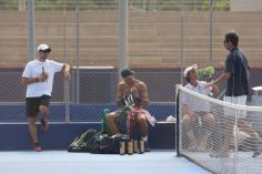 Rafa practicing on a hard court - Rafael Nadal Fans (4)