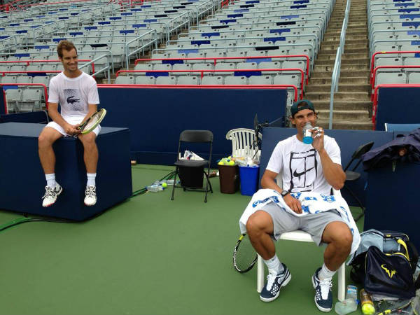 Rafael Nadal and Richard Gasquet - Montreal 2013 (1)