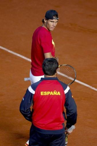 Davis Cup - Rafael Nadal practicing in Madrid (4)