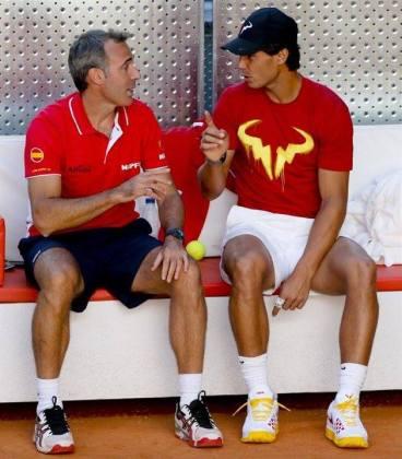 Davis Cup - Rafael Nadal practicing in Madrid (8)