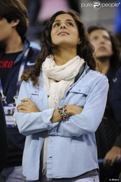 Girlfriend Maria Xisca Watching Rafael Nadal - US Open 2013 (3)