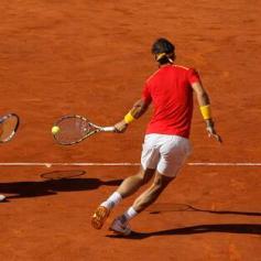 Rafael Nadal and Marc Lopez - Davis Cup - Spain Ukraine (1)