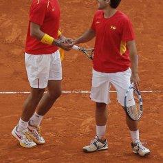 Rafael Nadal and Marc Lopez - Davis Cup - Spain Ukraine (15)