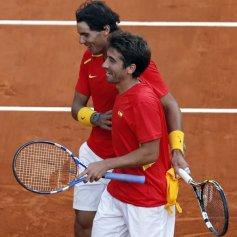 Rafael Nadal and Marc Lopez - Davis Cup - Spain Ukraine (20)