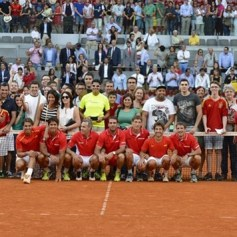 Rafael Nadal and Marc Lopez - Davis Cup - Spain Ukraine (23)