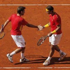 Rafael Nadal and Marc Lopez - Davis Cup - Spain Ukraine (6)