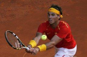 Rafael Nadal beats Sergiy Stakhovsky 60 60 64 Davis Cup (2)