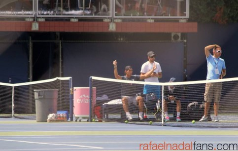 Rafael Nadal practices with Uncle Toni in New York (4)