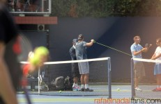 Rafael Nadal practices with Uncle Toni in New York (7)