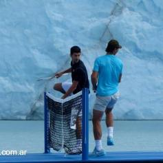 Nadal and Djokovic play tennis Perito Moreno glacier (4)