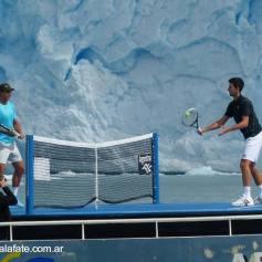 Nadal Djokovic Perito Moreno glacier in Argentina 2013 (6)