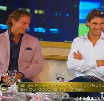 Rafael Nadal David Nalbandian Susana Giménez Show (3)