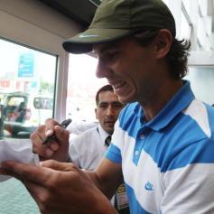 Rafael Nadal in Lima Peru 2013 (9)