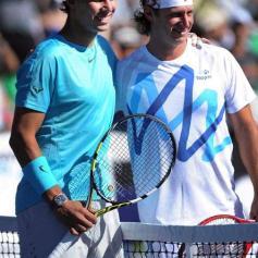 Rafael Nadal Novak Djokovic goodbye David Nalbandian La Rural Argentina (2)