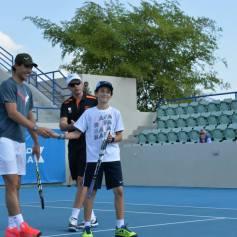Rafael Nadal At Kids Clinic In Abu Dhabi (7)