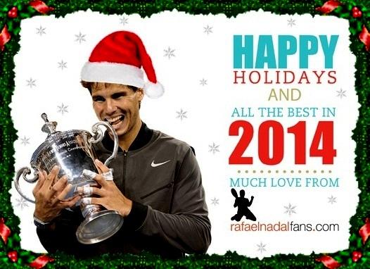 Rafael Nadal Merry Christmas Happy New Year 2014