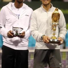 Rafa vs Gael Monfils Doha Final AP Osama Faisal 1