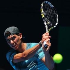 Rafael Nadal practising Australian Open 2014 (12)