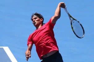Rafael+Nadal+2014+Australian+Open+Practice+Michael+Dodge+3