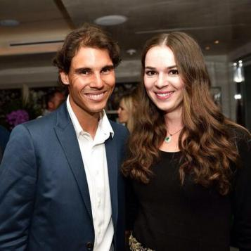 Rafa and tennis player Galina in Miami. Photo via Twitter / @g_voskoboeva