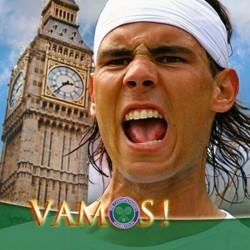Rafael Nadal Fans Wimbledon