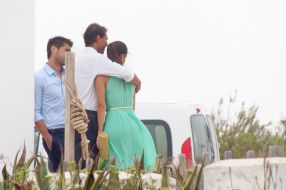 Rafael Nadal and his girlfriend Maria Francisca Perello at Friends' Wedding (5)