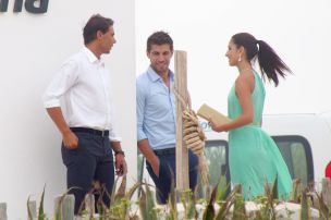 Rafael Nadal and his girlfriend Maria Francisca Perello at Friends' Wedding (8)