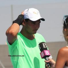 Rafael Nadal practices in Manacor