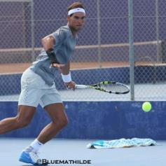 Rafael Nadal practicing Mallorca wrist injury (4)