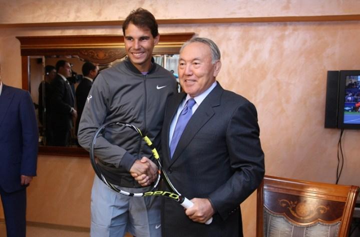 Rafael Nadal meets Kazakh president Nursultan Nazarbayev